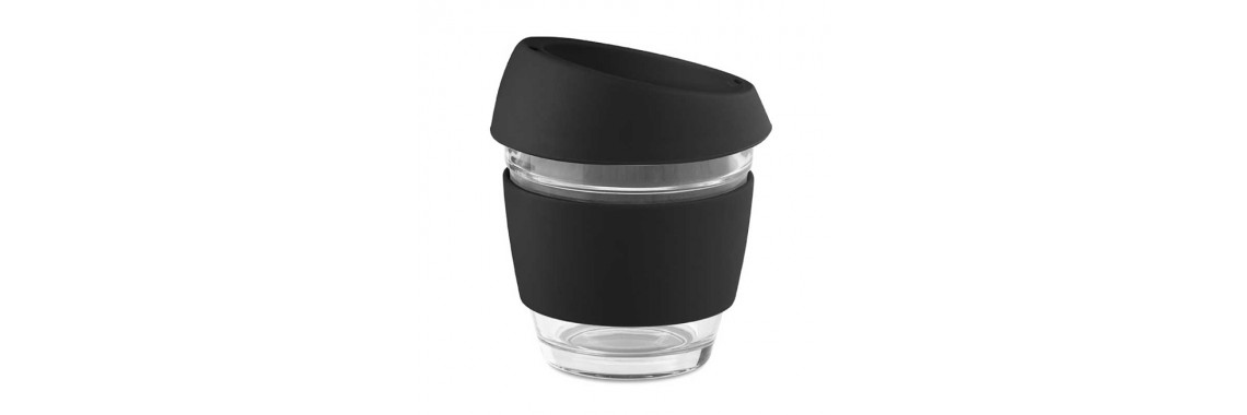 NM20 reusable glass cup with silicone band
